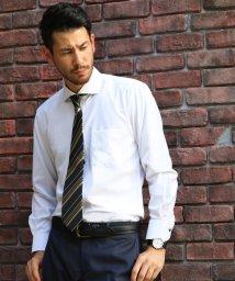 FLiC/ワイシャツ ノーアイロン ドライ ストレッチワイシャツ メンズ 長袖 形態安定 吸水速乾 織柄 ホリゾンタル/503079703