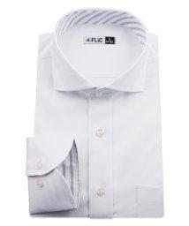 FLiC/ワイシャツ ノーアイロン ドライ ストレッチワイシャツ メンズ 長袖 形態安定 吸水速乾 織柄 ホリゾンタル/503079704