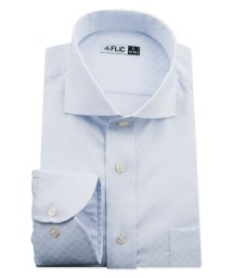 FLiC/ワイシャツ ノーアイロン ドライ ストレッチワイシャツ メンズ 長袖 形態安定 吸水速乾 織柄 ホリゾンタル/503079705
