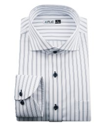 FLiC/ワイシャツ ノーアイロン ドライ ストレッチワイシャツ メンズ 長袖 形態安定 吸水速乾 織柄 ホリゾンタル/503079706
