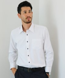 FLiC/ワイシャツ ノーアイロン ドライ ストレッチワイシャツ メンズ 長袖 形態安定 吸水速乾 織柄 レギュラー/503079708