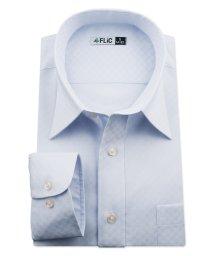 FLiC/ワイシャツ ノーアイロン ドライ ストレッチワイシャツ メンズ 長袖 形態安定 吸水速乾 織柄 レギュラー/503079709