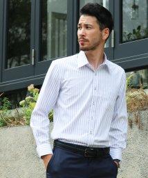 FLiC/ワイシャツ ノーアイロン ドライ ストレッチワイシャツ メンズ 長袖 形態安定 吸水速乾 織柄 レギュラー/503079710