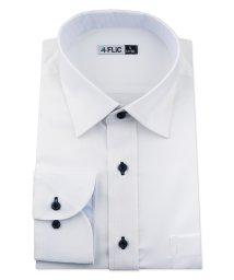FLiC/ワイシャツ ノーアイロン ドライ ストレッチワイシャツ メンズ 長袖 形態安定 吸水速乾 織柄 ショートワイド/503079712