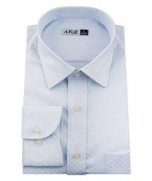 FLiC/ワイシャツ ノーアイロン ドライ ストレッチワイシャツ メンズ 長袖 形態安定 吸水速乾 織柄 ショートワイド/503079713