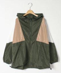 GeeRa/配色切替ハーフジップパーカーブルゾン/502901941