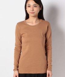 BENETTON (women)/袖ロゴ刺繍クルーネック長袖Tシャツ・カットソー/503067877