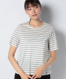 VICE VERSA/【洗える】ホットフィックス加工ボーダーTシャツ/502121185