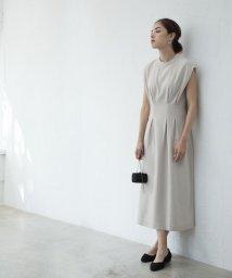 smeralda/ウエストタックノースリーブドレス/503050002