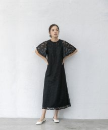 smeralda/フレアスリーブリーフレースドレス/503050011
