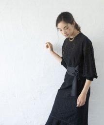 smeralda/ペプラムヘムレースドレス/503050013