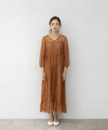 smeralda/フロントボタンレースドレス/503050025