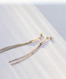 smeralda/ゴールドフリンジパールピアス/503050034