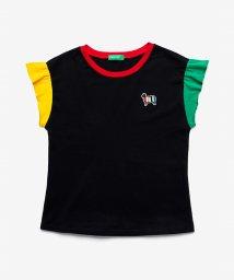 BENETTON (UNITED COLORS OF BENETTON GIRLS)/シープアップリケ配色フリルTシャツ・カットソー/503067837