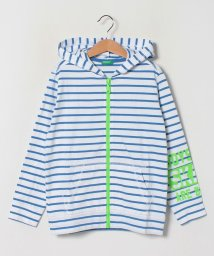 BENETTON (UNITED COLORS OF BENETTON BOYS)/ボーダーアームプリントフードジップパーカー/503067949