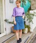 Honeys/前釦台形スカート/503080082