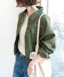 and Me.../チノツイルオーバーサイズシャツジャケット/503080188