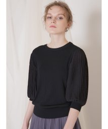 MIELIINVARIANT/Pleat Sleeve Knit Top/503080256