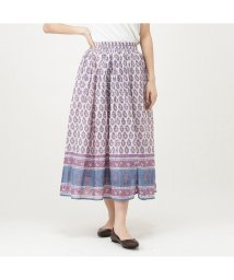 MAC HOUSE(women)/NAVY ネイビー インド綿 プリントスカート MC20SS-BT07-N/503080320
