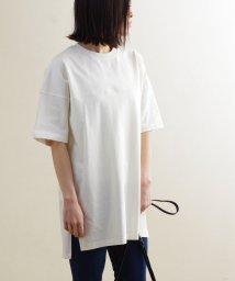Fizz/【2020新作】切替えデザインスリット入りビッグTシャツ mitis SS/503081355