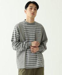 BEAMS MEN/BEAMS / クレイジーボーダー ロングTシャツ/503001012