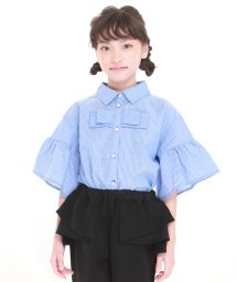 UNICA/【2020春夏】ストライプリボンシャツ 110~140/503023706