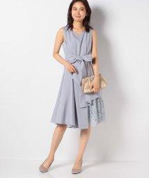 INTERPLANET/ウエストタック入り刺繍レース使いドレス/503075320