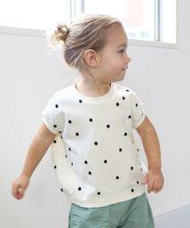 quoti use fith/ポコポコドットジャガード天竺変型サークル 半袖 Tシャツ/503081402