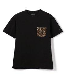 Schott/HAIRY LEATHER POCKET Tee ONE STAR/レザーポケットTシャツ/503081894