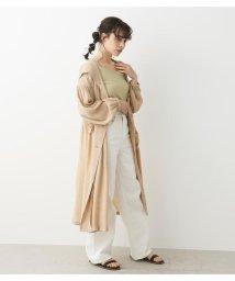 Avan Lily/シアーフーディーロングコート/503082102