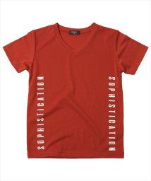 GLAZOS/バックメッシュ・サイドロゴVネック半袖Tシャツ/503082320