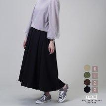 nod/まるでスカートのように揺れる贅沢キュロットパンツ/503083095