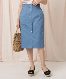 Couture Brooch/フェイクパールボタンタイトスカート/503083454