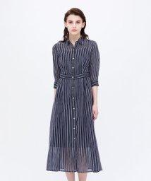 LOVELESS WOMEN/シアーストライプ ドレス/503010620