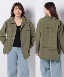 STYLEBLOCK/後ろドット釦バックプリントオーバーサイズビッグシルエットCPOシャツジャケット/503071571