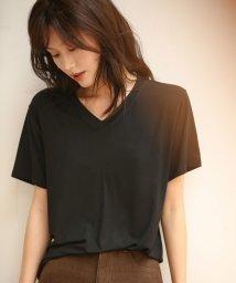 SAISON DE PAPILLON/ドロップショルダーVネックTシャツ/503079965