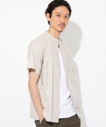 coen/ヘンプバンドカラー半袖シャツ#/503088277