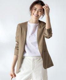 NIJYUSANKU/【マガジン掲載】リネンヴィスコース ストレッチ ジャケット(番号H47)/503088885