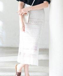 NIJYUSANKU/【マガジン掲載】コットンコード クロシェ スカート(番号H34)/503088906