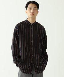 BEAMS MEN/BEAMS / ストライプ イージー バンドカラーシャツ/502943065