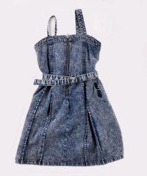 ZIDDY/ウエスト ベル トボックス プリーツ デニム ジャンパースカート(130cm~1/503049566