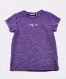 ZIDDY/ロゴ刺繍ラメポンチTシャツ/503049584