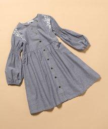 ROPE' PICNIC KIDS/【ROPE' PICNIC KIDS】肩刺繍羽織りワンピース/503053275