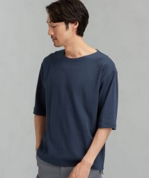 green label relaxing/SC ガーター ボートネック 5分袖 カットソー/503071240