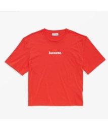 LACOSTE/ネームロゴデザインクルーネックTシャツ/503089256