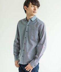 Rocky Monroe/チェックシャツ メンズ ボタンダウン ギンガム カジュアル 綿100% コットン ブロード 細身 日本製 国産 春 1737/503090343