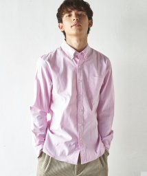 Rocky Monroe/オックスフォードシャツ メンズ 無地 長袖 ボタンダウン ストレッチ 伸縮性 カジュアルシャツ 7092/503090345