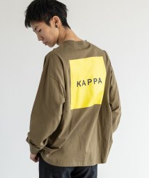 Rocky Monroe/kappa カッパ Tシャツ ロンT メンズ レディース ブランドロゴ 白 長袖 バックプリント ビッグシルエット ゆったり ルーズ クルーネック カジュアル /503090356