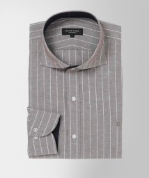 BLACK LABEL CRESTBRIDGE/コットンリネンストライプホリゾンタルカラーシャツ/503090546