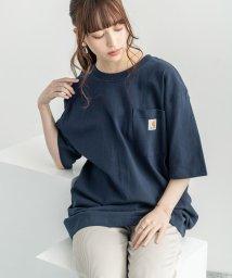 Rocky Monroe/CARHARTT カーハート Tシャツ メンズ K87 ポケT 半袖 無地 ポケット ワークウェア ルーズシルエット ビッグT クルーネック ストリート カジュ/503090829